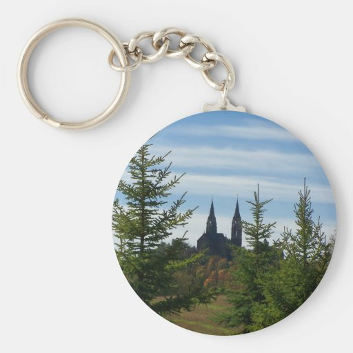 Holy Hill Basic Round Button Keychain