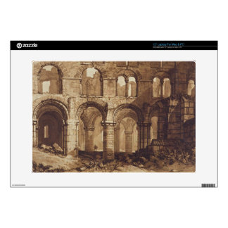 Holy Island Cathedral, engraved by Charles Turner Laptop Decal