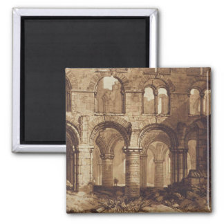 Holy Island Cathedral, engraved by Charles Turner Magnet