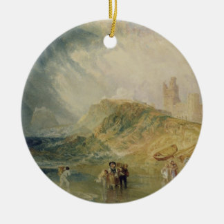 Holy Island, Northumberland, c.1820 (oil on canvas Ceramic Ornament