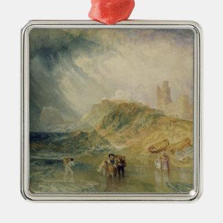 Holy Island, Northumberland, c.1820 (oil on canvas Metal Ornament