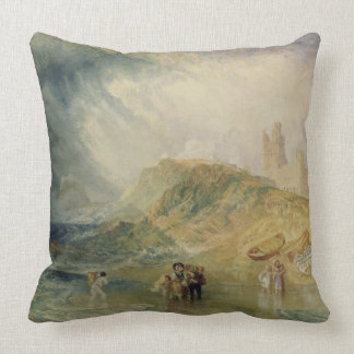 Holy Island, Northumberland, c.1820 (oil on canvas Throw Pillow