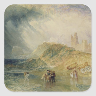 Holy Island, Northumberland, c.1820 (oil on canvas Square Sticker