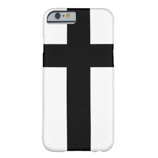 Holy Knight Black Cross Barely There iPhone 6 Case