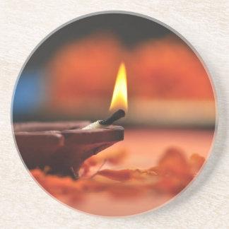 Holy lamp for Diwali festival Drink Coaster