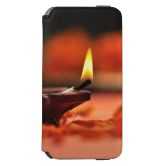 Holy lamp for Diwali festival iPhone 6/6s Wallet Case