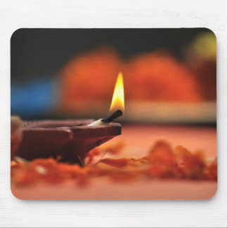 Holy lamp for Diwali festival Mouse Pad