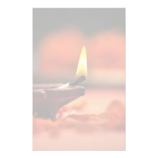 Holy lamp for Diwali festival Stationery