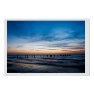 Holy Land Beach Sunset ,Israel Beach Poster