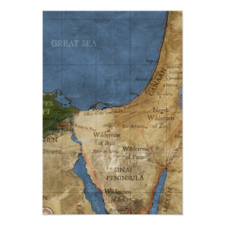 Holy land map poster