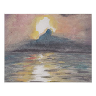 Holy Land Sunset Poster