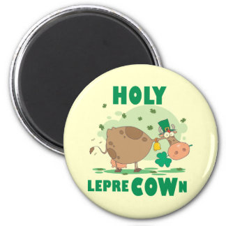 HOLY LepreCOWn T-shirts and Gifts 2 Inch Round Magnet