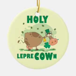 HOLY LepreCOWn T-shirts and Gifts Ornaments