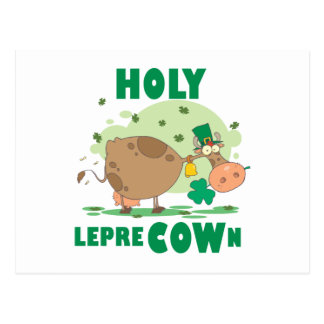 HOLY LepreCOWn T-shirts and Gifts Postcard