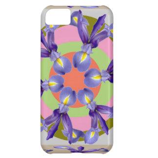 HOLY Look Dutch IRIS Flower Presentation Case For iPhone 5C