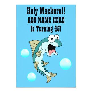 Holy Mackerel, Someone Is Turning 45 Funny Fish Card