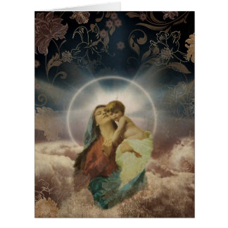 Holy Maria With Baby Greeting Card