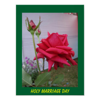 holy marriage day poster
