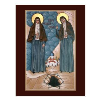 Holy Martyrs Elizabeth and Barbara Prayer Card Postcard