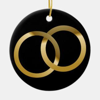Holy Matrimony Double-Sided Ceramic Round Christmas Ornament