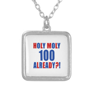 HOLY MOLY 100 ALREADY SQUARE PENDANT NECKLACE
