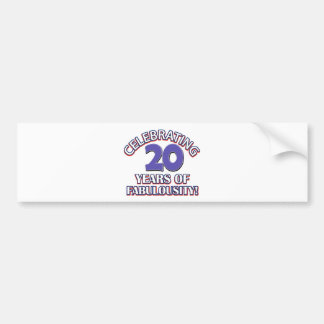 Holy Moly 20 already? Car Bumper Sticker