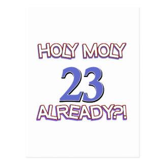 Holy Moly 23 already birthday Design Postcard