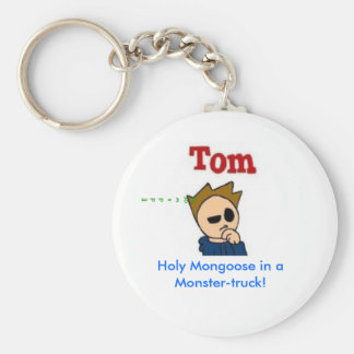 Holy Mongoose in a Monster-truck! Basic Round Button Keychain