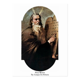 Holy Moses By Jusepe De Ribera Postcard