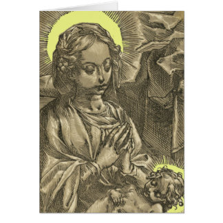 Holy Mother and Child, A Vintage Christmas Card.