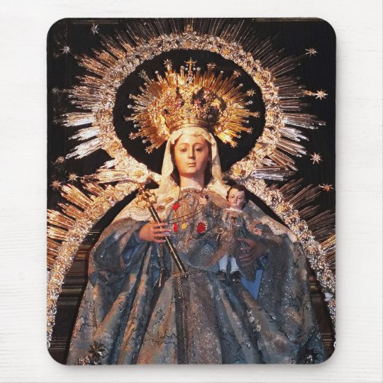 Holy Mother Mary and baby Jesus Mouse Pad