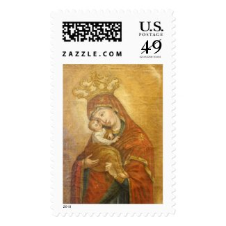 Holy Mother Mary Madonna Virgin Stamp