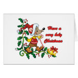Holy Mousie Christmas Greeting Card