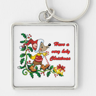 Holy Mousie Christmas Keychain