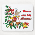 Holy Mousie Christmas Mouse Pad