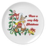 Holy Mousie Christmas Party Plate