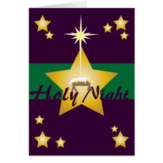 Holy Night-Customize Greeting Card