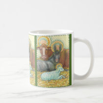 HOLY NIGHT Nativity Animals In Stable MUG