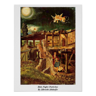 Holy Night (Nativity) By Albrecht Altdorfer Posters