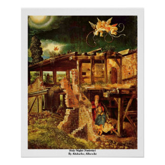 Holy Night (Nativity) By Altdorfer, Albrecht Poster