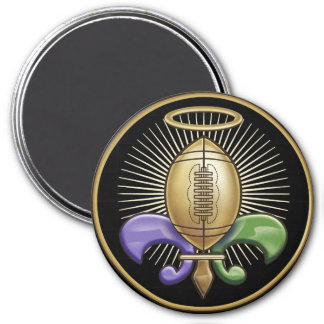 Holy NOLA Trophy (p) 3 Inch Round Magnet