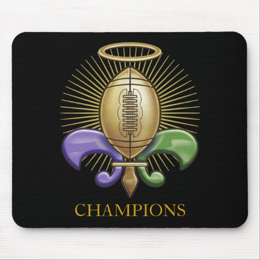 Holy NOLA Trophy (p) Mouse Pads
