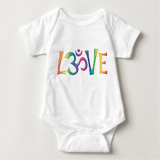 Holy OM LOVE colored Baby Bodysuit