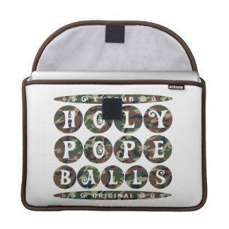 HOLY POPE BALLS - Christian Religious Joke, Camo Sleeve For MacBook Pro