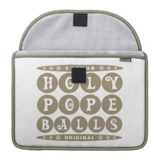 HOLY POPE BALLS - Christian Religious Joke, Gold MacBook Pro Sleeve