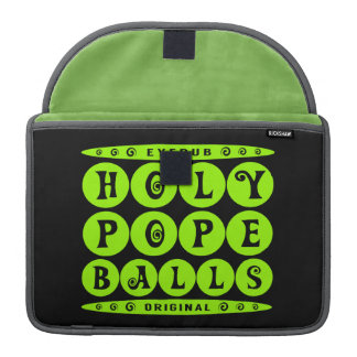 HOLY POPE BALLS - Christian Religious Joke, Lime Sleeve For MacBooks