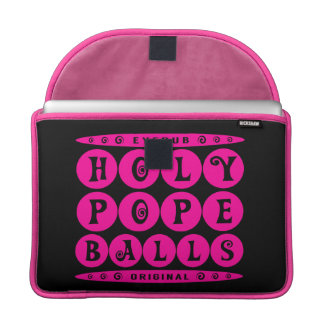 HOLY POPE BALLS - Christian Religious Joke, Pink Sleeve For MacBooks
