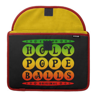 HOLY POPE BALLS - Christian Religious Joke, Rasta Sleeve For MacBook Pro