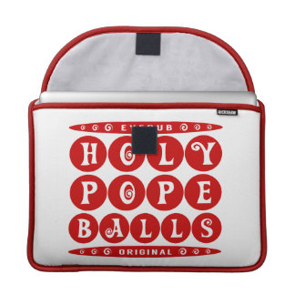 HOLY POPE BALLS - Christian Religious Joke, Red MacBook Pro Sleeve