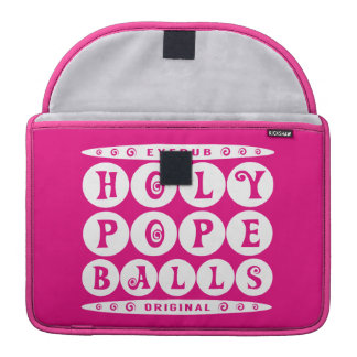 HOLY POPE BALLS - Christian Religious Joke, White MacBook Pro Sleeve